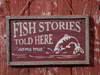SIGN ORNAMENT: FISH STORIES