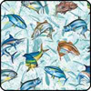 FISHSOXX FISH COASTERS SET OF 4: MULTI SALTWATER