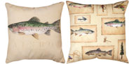 LAKE HOUSE RAINBOW TROUT CLIMAWEAVE PILLOW