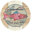 GREAT OUTDOORS: ALASKA PINK SALMON SANDSTONE COASTERS