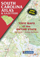 DELORME SOUTH CAROLINA ATLAS AND GAZETTEER