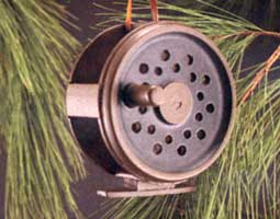 ORNAMENTS FOR THE ANGLER: 4 INCH FLY REEL