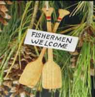 SIGN ORNAMENT: FISHERMAN WELCOME