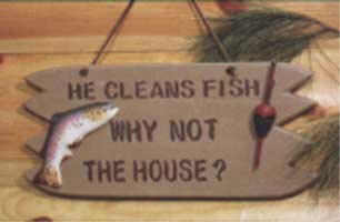 ADMA SIGNS: HE CLEANS THE FISH SIGN