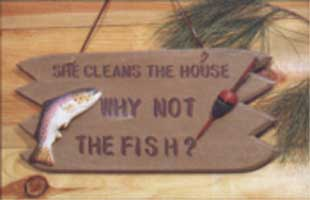 ADMA SIGNS: SHE CLEANS THE HOUSE SIGN