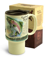 AMERICAN EXPEDITION STONEWARE TRAVEL MUG: RAINBOW TROUT