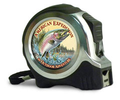 25 FT. METAL TAPE MEASURES: RAINBOW TROUT