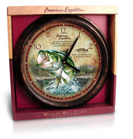 AMERICAN EXPEDITION WILDLIFE SERIES: WALL CLOCK: LARGEMOUTH BASS