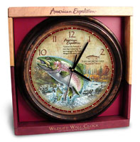 AMERICAN EXPEDITION WILDLIFE SERIES: WALL CLOCK: TROUT