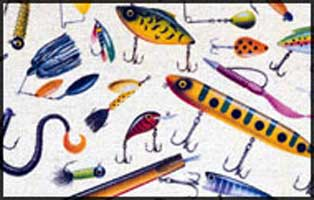 FISHSOXX  LARGE WELCOME MAT: MULTI LURES