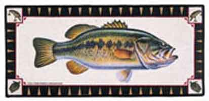 FISHSOXX  LARGE WELCOME MAT: LARGEMOUTH BASS FRESHWATER