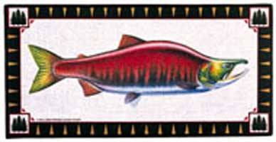 FISHSOXX  LARGE WELCOME MAT: SOCKEYE SALMON FRESHWATER