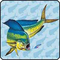 FISHSOXX FISH COASTERS SET OF 4: DOLPHIN