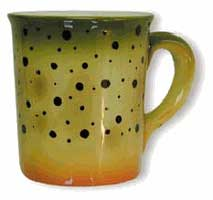 ABSTRACT TROUT STONEWARE: CUTTHROAT TROUT MUG
