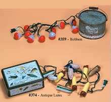 10 FOOT LIGHT SETS IN GIFT TINS: ANTIQUE LURES