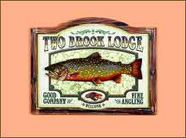3 DIMENSIONAL PUB SIGN: TWO BROOK LODGE