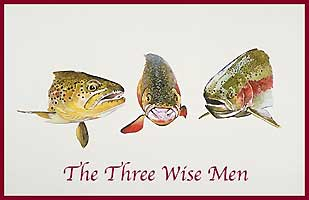 HOLIDAY GREETING CARDS: THREE WISE MEN CHRISTMAS CARD (16 pack)