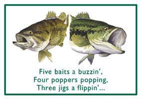 HOLIDAY GREETING CARDS: FIVE BAITS A BUZZIN' (16 pack)