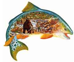 TROUT STORY (FISH SHAPE)  - 1000 PIECE PUZZLE
