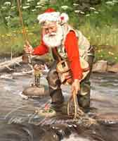 SANTA FISHING PRINTS: CATCH OF THE DAY