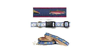 TROUT ADJUSTABLE DOG COLLAR 15-21 INCH (LRG)