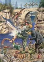 WOODEN JIGSAW PUZZLE: FISHERMAN'S DREAM - 250 PIECES