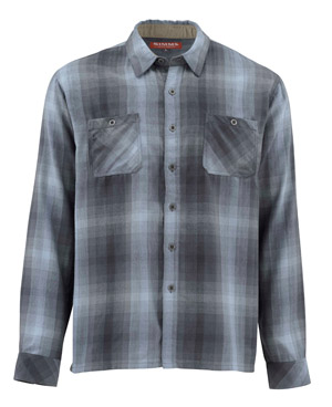 <font color=red>On Sale - Clearance</font><br>Simms Black's Ford LS Flannel Shirt - Dark Moon Plaid
