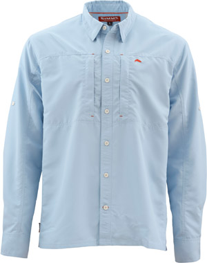 <font color=red>On Sale - Clearance</font><br>Simms Bugstopper LS Shirt Solid - Light Blue