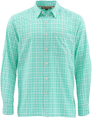 <font color=red>On Sale - Clearance</font><br>Simms Morada LS Shirt - Mint Plaid