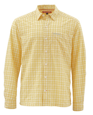 <font color=red>On Sale - Clearance</font><br>Simms Morada LS Shirt - Light Yellow Plaid