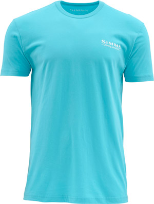 <font color=red>On Sale - Clearance</font><br>Simms Weekend Tuna SS T - Cabana Blue