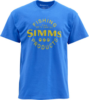 <font color=red>On Sale - Clearance</font><br>Simms Buy Local SS T - Cobalt