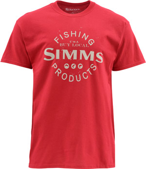 <font color=red>On Sale - Clearance</font><br>Simms Buy Local SS T - Ruby
