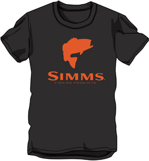 <font color=red>On Sale - Clearance</font><br>Simms Bass Logo SS T - Black