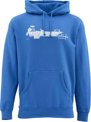 <font color=red>On Sale - Clearance</font><br>Simms Skiff Hoody - Cobalt