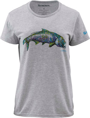 <font color=red>On Sale - Clearance</font><br>Simms Women's Larko Tarpon SS T - Ash