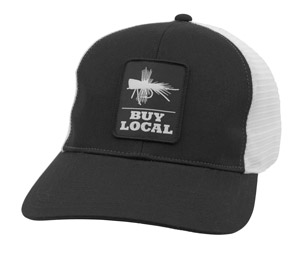 <font color=red>On Sale - Clearance</font><br>Simms Buy Local Patch Trucker - Black
