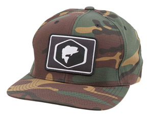 <font color=red>On Sale - Clearance</font><br>Simms Cotton Twill Patch Snapback - Woodland Camo Bass