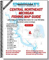MICHIGAN FISHING MAP GUIDE: CENTRAL NORTHEAST MICHIGAN
