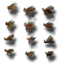 Elk Hair Caddis Assortment - 12 Flies