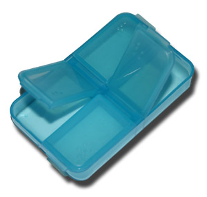 4 Compartment Nymph Fly Box - Blue