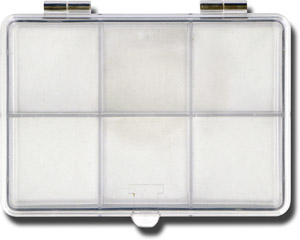 6 Compartment Crystal Clear Fly Box