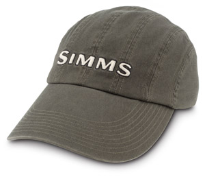 Fly fishing flies simms 8 panel washed twill long bill cap for Long bill fishing hat