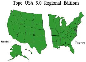 TOPO USA 5.0 REGIONAL (WEST) CD-ROM