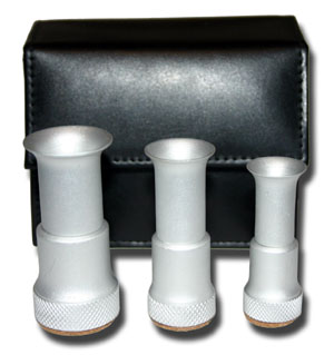 Aluminum Hair Stacker Set w/Leather Case