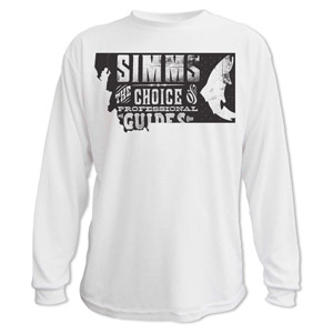<font color=red>On Sale - Clearance</font><br>Simms Anglers Choice T-Shirt - LS - White