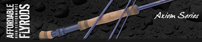 <font color=red>On Sale - Clearance</font><br>TFO Axiom Series Fly Rods - 9' 7wt 4pc (TF 07 90 4 A)