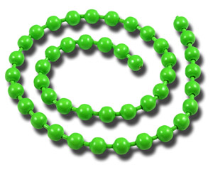 Bead Chain Eyes - Fl Green