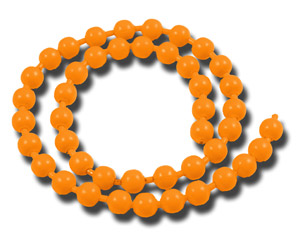 Bead Chain Eyes - Fl Orange
