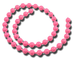 Bead Chain Eyes - Fl Pink